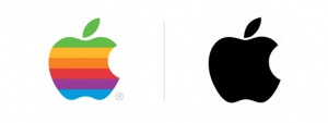 apple logo rebrand
